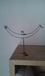 ワイヤーワークの鳥