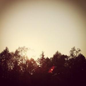 ハル小屋前夕景