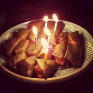 誕生日桜餅