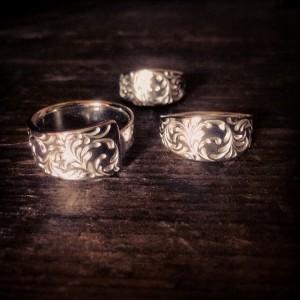 指輪3点盛り