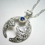 純銀手彫り唐草馬蹄ネックレス4