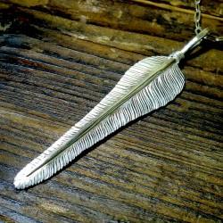 シルバーの風切り羽根