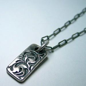 純銀手彫りネックレス2