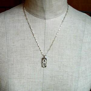 純銀手彫りネックレス3