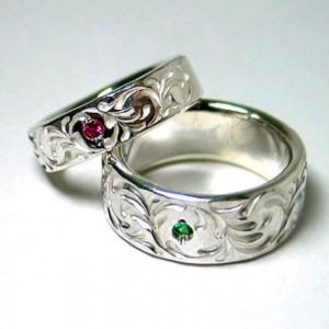 結婚指輪のカスタムオーダーサンプル