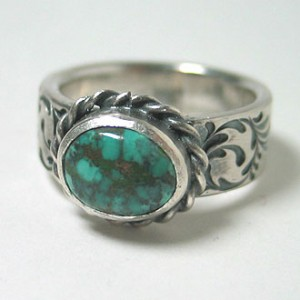 one-off ring [turquoise & soul texture]110310