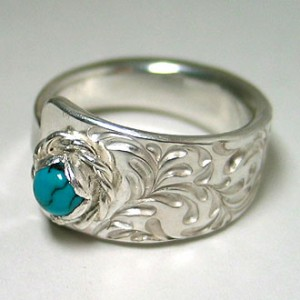 ts ring [soul texture / turquoise]