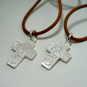 cross pair necklace [soul texture/order sample]