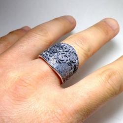 手彫り唐草シルバーリング3