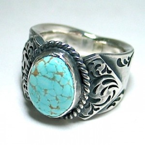 one-off  turquoise ring [No.8 mine]
