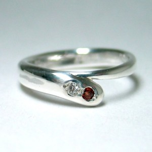 order sample [garnet & cz ring]