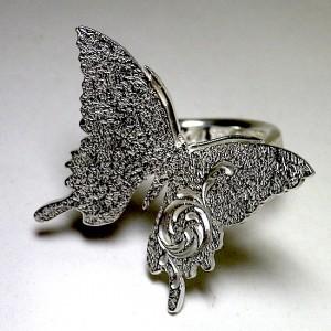 蝶シルバーリング