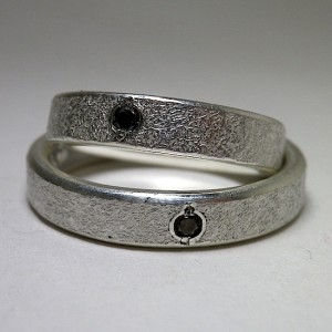 stone ring [4mm/Black Diamond:custom order sample]