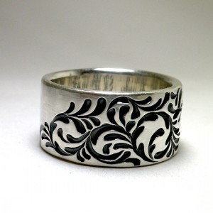 soul texture band ring [order made sample]