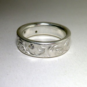 soul texture ring custom[cubic zirconia set]