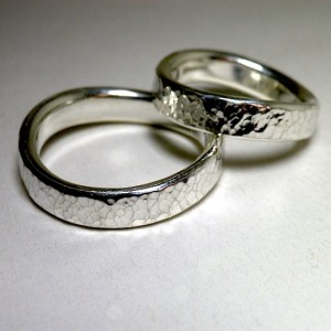 eternal wave ring [4mm/鎚目] custom made