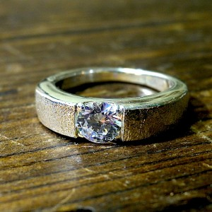 stone ring [CZ Inlay]