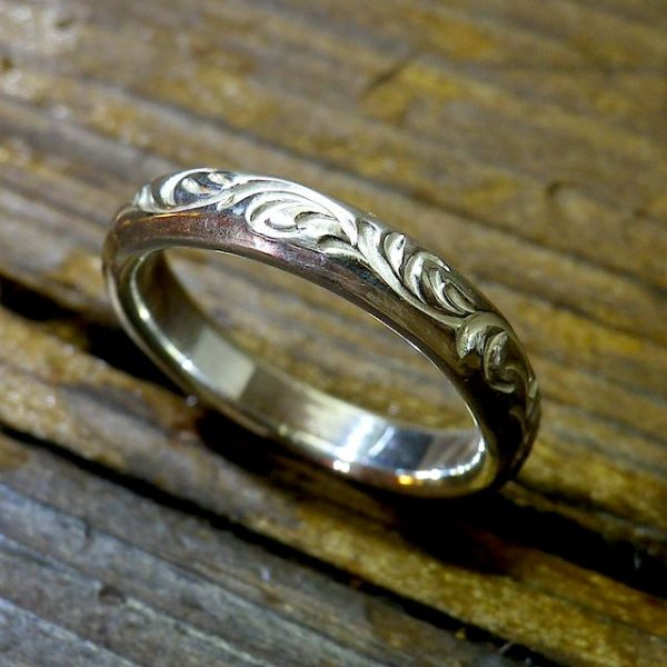 round scroll ring [3.5mm/唐草]