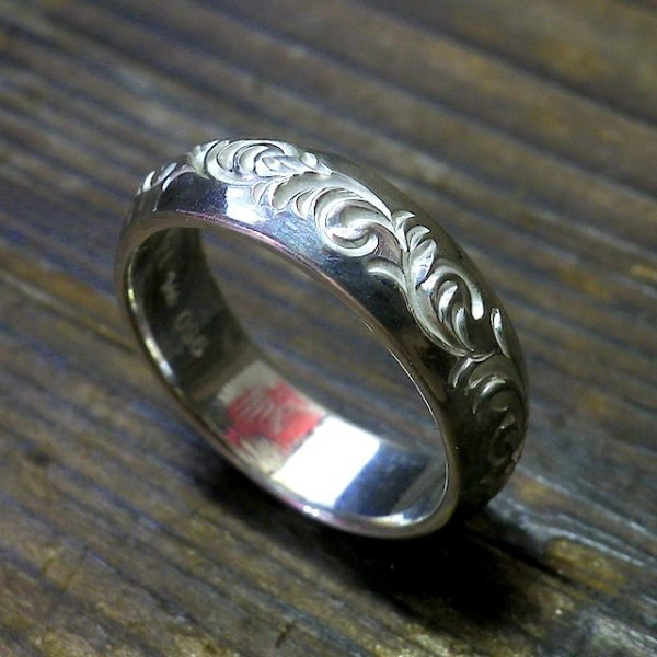round scroll ring [6mm/唐草]