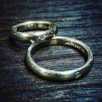 シルバーマリッジリング ダイヤモンドセット